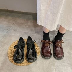 miss baby(ミスベイビー) - Lace-Up Patent Shoes