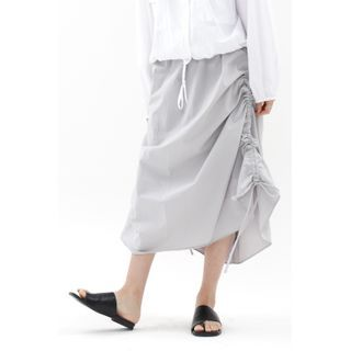 SIMPLY MOOD - Drawstring-Side Maxi Skirt