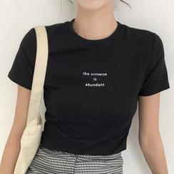 Dute - Lettering Short-Sleeve T-Shirt
