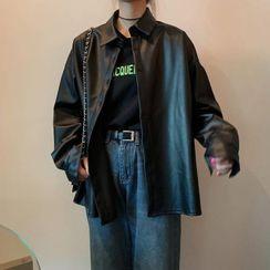 palajana - 仿皮襯衫夾克