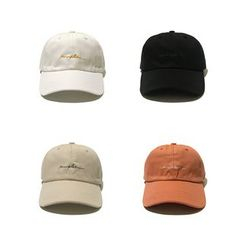 Heloi - Letter Embroidered Baseball Cap