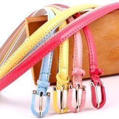 Leatha - Faux Leather Slim Belt