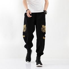 Andrei - Dragon Embroidered Harem Pants