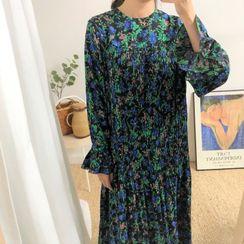 Pomona - 喇叭袖碎花A字連衣中裙