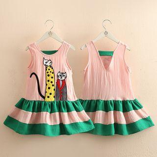 Seashells Kids - Kids Sleeveless Cartoon Dress
