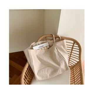NANING9 - Boxy Canvas Shopper Bag