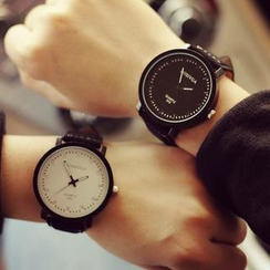 Tacka Watches - Faux Leather Strap Couples' Watch