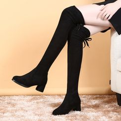 Danceon - Block Heel  Over-The-Knee Boots