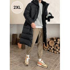 JOGUNSHOP - Hooded Snap-Button Padded Coat