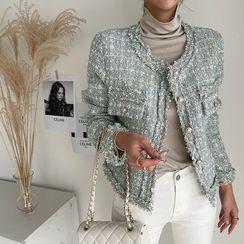 NANING9 - Fringed Tweed Jacket