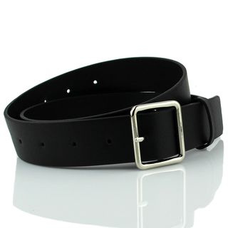 Follow Me - Square Buckle Faux Leather Belt