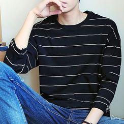 KANYO - Striped 3/4-Sleeve T-Shirt