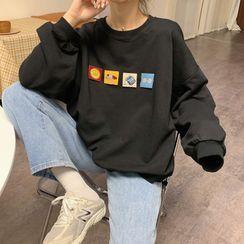Juku Girls - Patchwork Applique Sweatshirt