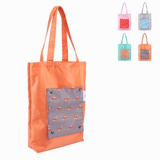 Lezi Bags - Printed Panel Lightweight Foldable Shopper Bag
