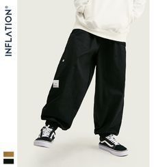 Newin - 多口袋工裝束腳褲