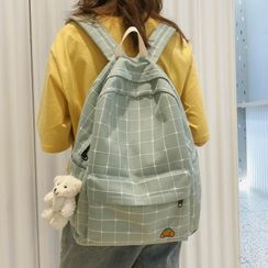 MUSIS - Plaid Canvas Backpack