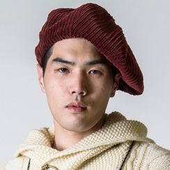 Heloi - 純色燈芯絨貝雷帽