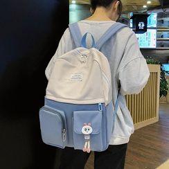 HOVERUP - 輕型配色拼接貼布繡背包