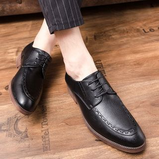 WeWolf - Faux-Leather Stitched Lace-Up Shoes