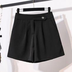Chubchubs - 純色高腰寬腿短褲
