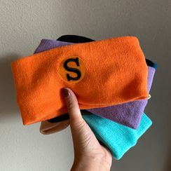 Cap Station - Letter Embroidered Knit Headband