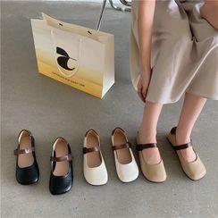 ELFISH - Faux Leather Mary Jane Shoes