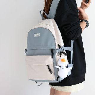 Little Days - Two Tone Canvas Backpack / Charm / Set