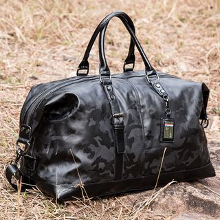 TESU - Faux Leather Camo Carryall Bag