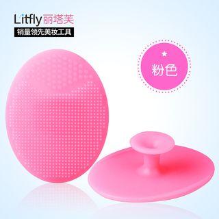 丽塔芙 - 按摩矽胶洗脸刷 (粉色)