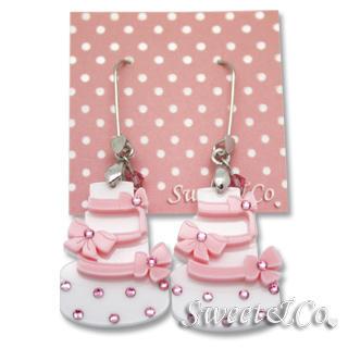 Sweet & Co. - Sweet Pink dolly cake swarovski dangle earrings