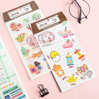 SASHI - Set: Cartoon Print Masking Tape / Sticker