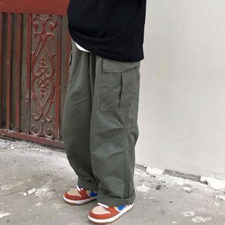 Shineon Studio - 工装宽腿直筒裤