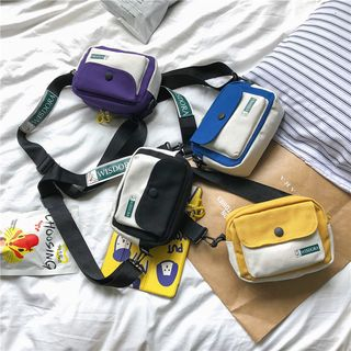 Mulgam(ムルガム) - Color Block Canvas Crossbody Bag