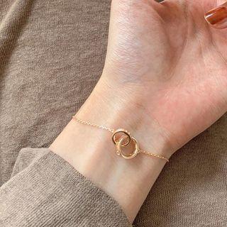 Calypso - Rhinestone Interlocking Hoop Bracelet