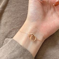 Calypso - 水鑽聯扣圈環手鏈