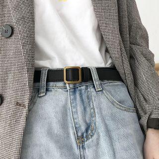 Sweeton - Faux Leather Buckle Belt