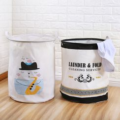 Yulu - 印花可折疊洗衣籃