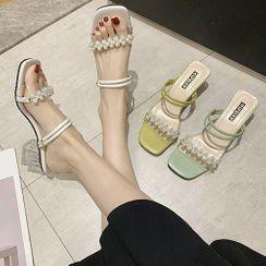 hunigala - Block Heel Embellished Sandals