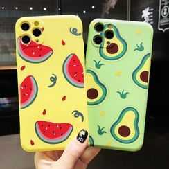 Hidog - Watermelon / Avocado Print Phone Case - iPhone 11 Pro Max / 11 Pro / 11 / XS Max / XS / XR / X / 8 / 8 Plus / 7 / 7 Plus / 6s / 6s Plus