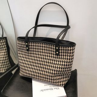 BAGUS - Hounstooth Tote Bag