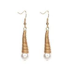 Vonluxe - Faux-Pearl Drop Earring