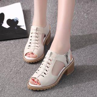 MANMANNI - Block-Heel Platform Sandals