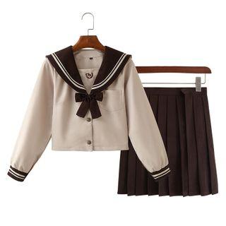 Aiyiruo - 水手襯衫 / 褶襉裙 / 套裝