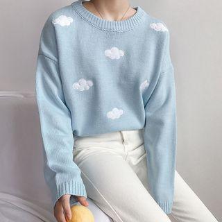 Dute - Suéter con estampado de nubes