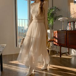 DEEPNY - Mock Two-Piece Maxi Tulle Dress