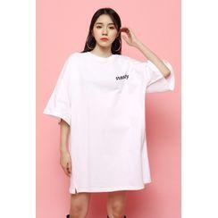 SIMPLY MOOD - 'steady' Oversized Longline T-Shirt