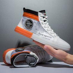 BELLOCK - Lettering High-Top Sneakers