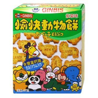 Three O'Clock - Ginbis Animal Biscuits Seaweed Flavor 37g