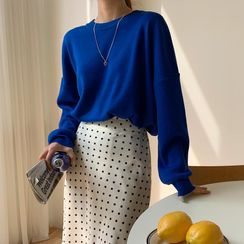 Envy Look - Round-Neck Colored Knit Top