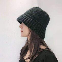 Incognito - 純色針織漁夫帽